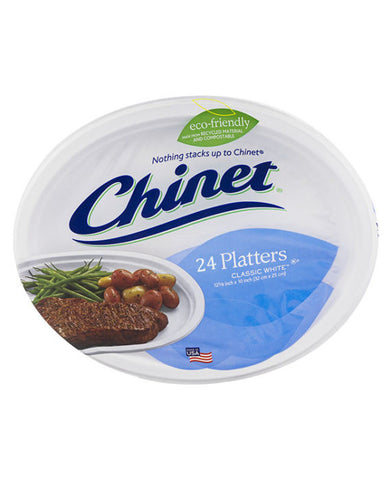 Chinet Classic White Platters (24ct)