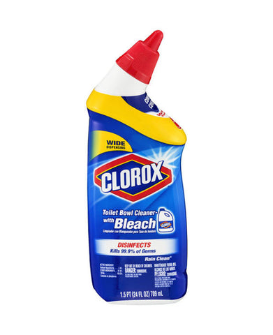 Clorox Toilet Bowl Cleaner with Bleach Rain Clean Scent