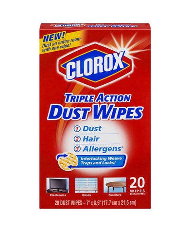 Clorox Tripe Action Dust Wipes