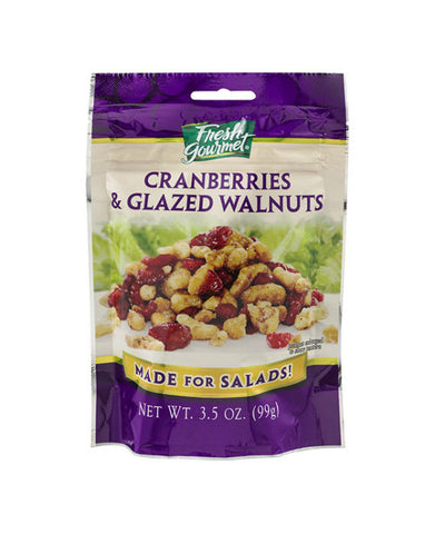 Fresh Gourmet Cranberries & Glazed Walnuts
