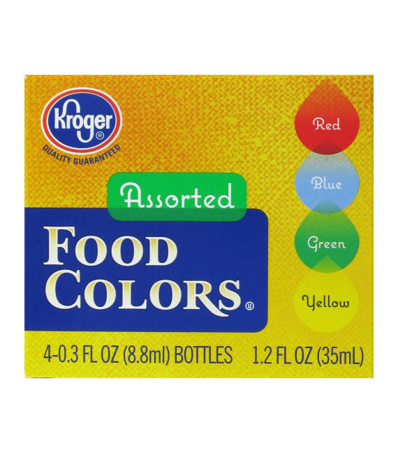 Kroger Assorted Food Coloring Kit – Run Around Errand Service