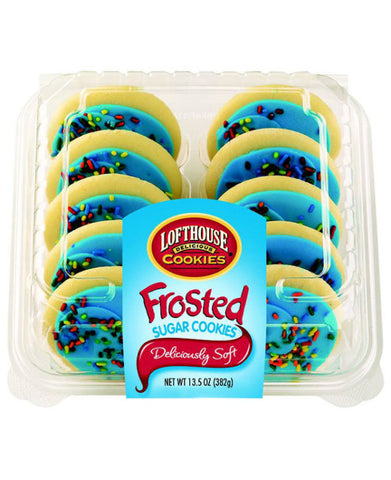 Kroger Bakery Fresh Blue Frosted Sugar Cookies