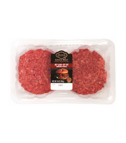 Private Selection Angus Beef Chuck Patties 80% Lean 20% Fat