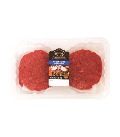 Private Selection Angus Beef Sirloin Patties 90% Lean 10% Fat