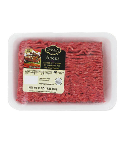 Private Selection Angus Ground Beef Round 85% Lean 15 % Fat