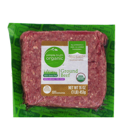 Simple Truth Organic Grass Fed 85% Lean 15% Fat Ground Beef