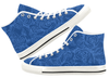 Indigo Sketch Roses High Top Sneaker by Liz Lauter