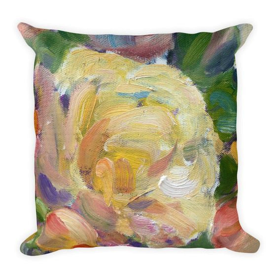 Very Painterly Floral Pillows