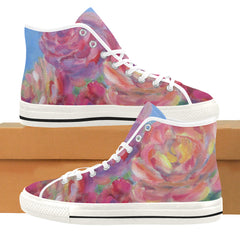 Sky Roses on High Top Sneakers by Liz Lauter