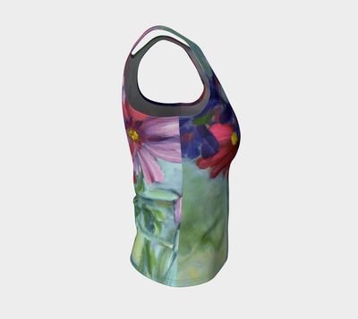 Cosmos Still Life Fitted Tank Top - Liz Lauter Designs