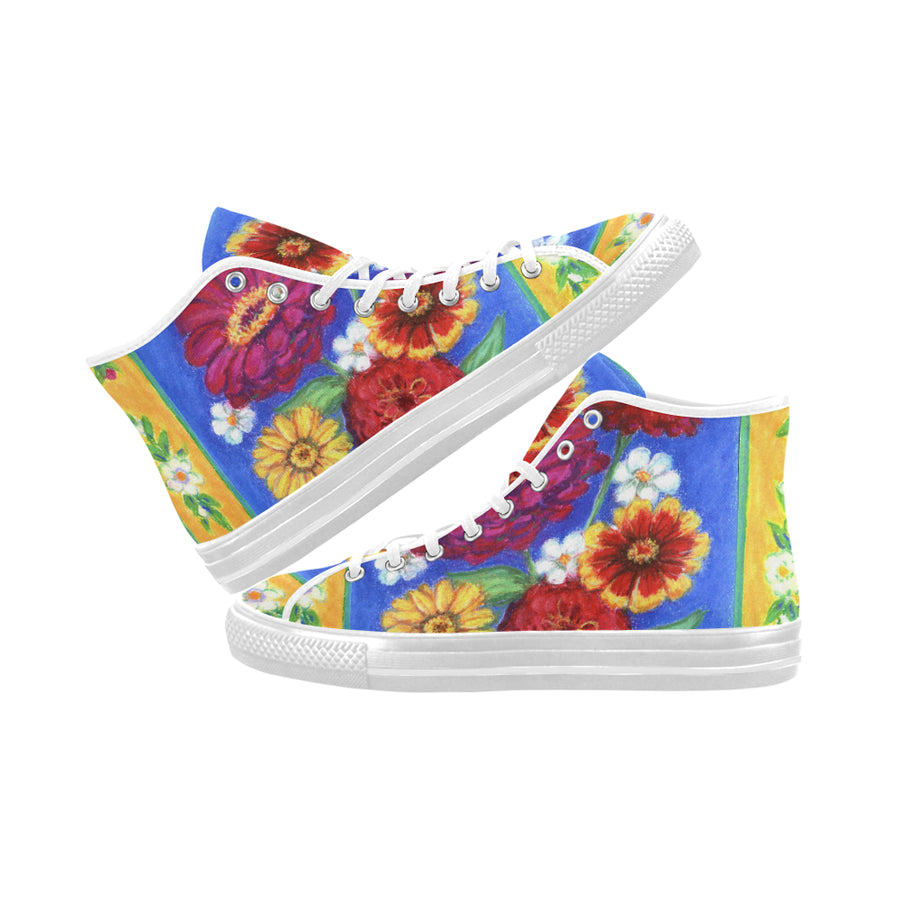 ZINNIAS  High Top Sneakers - Liz Lauter Designs