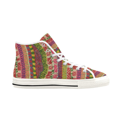 FOLK ART KNIT High Top Sneakers - Liz Lauter Designs