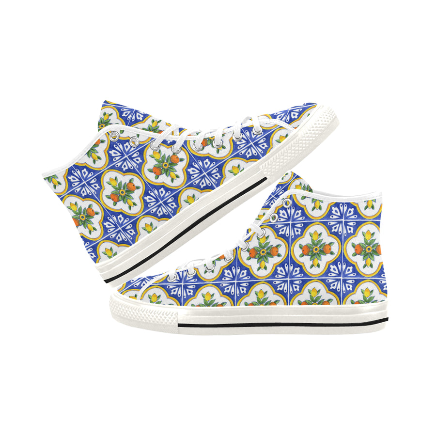 CITRUS TILES High Top Sneakers - Liz Lauter Designs