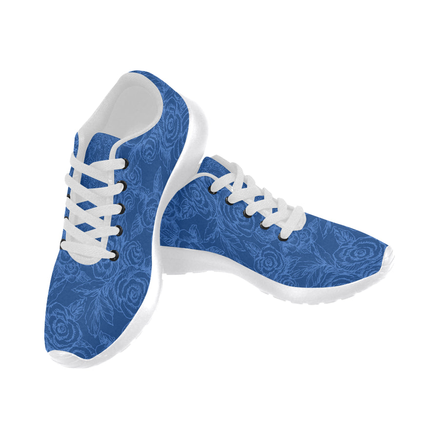 Roses Sketch Indigo Soft Sneakers - Liz Lauter Designs