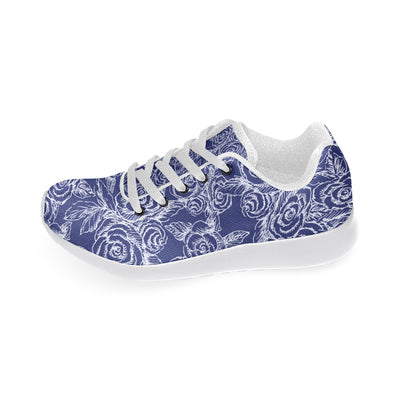 Roses Sketch Navy Soft Sneakers - Liz Lauter Designs