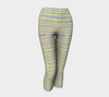 WATERCOLOR PLAID Capri Yoga Pants - Liz Lauter Designs