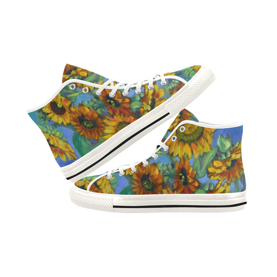SUNFLOWERS High Top Women's Sneakers - Liz Lauter Designs