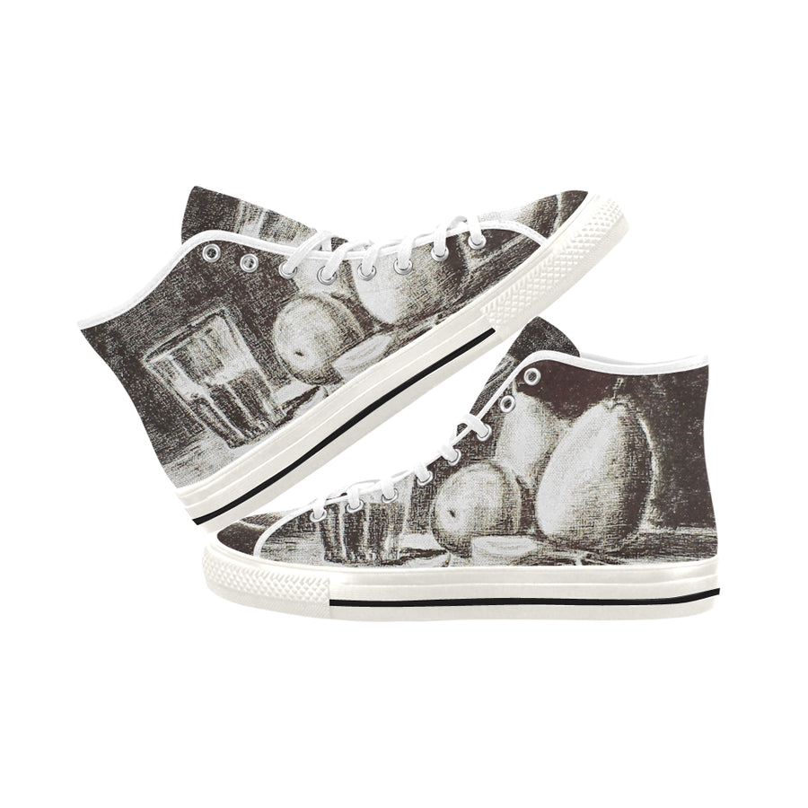 CHARCOAL DRAWING WITH PEARS High Top - Liz Lauter Designs