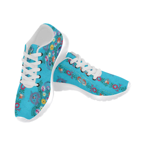 Turquoise Embroidery Sneakers - Liz Lauter Designs