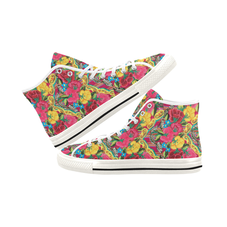 OAXACA FLOWERS High Top Sneakers - Liz Lauter Designs