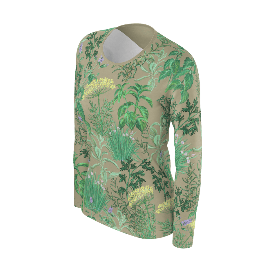 HERB GARDEN LONG SLEEVE SHIRT - Liz Lauter Designs