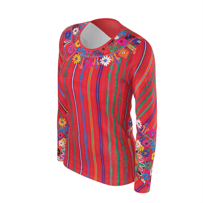 MEXICO EMBROIDERY LONG SLEEVE SHIRT - Liz Lauter Designs