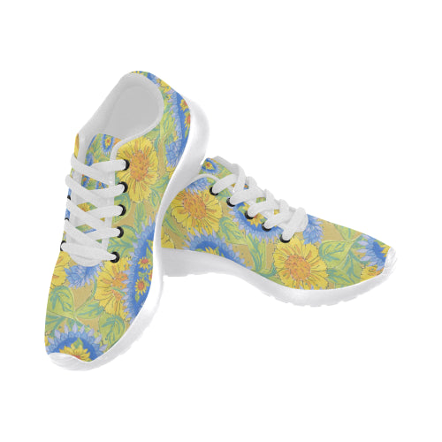 Sunflower Paisley Sneakers - Liz Lauter Designs