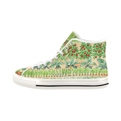 VEGGIE GARDEN PLAN High Top Women's Sneakers - Liz Lauter Designs