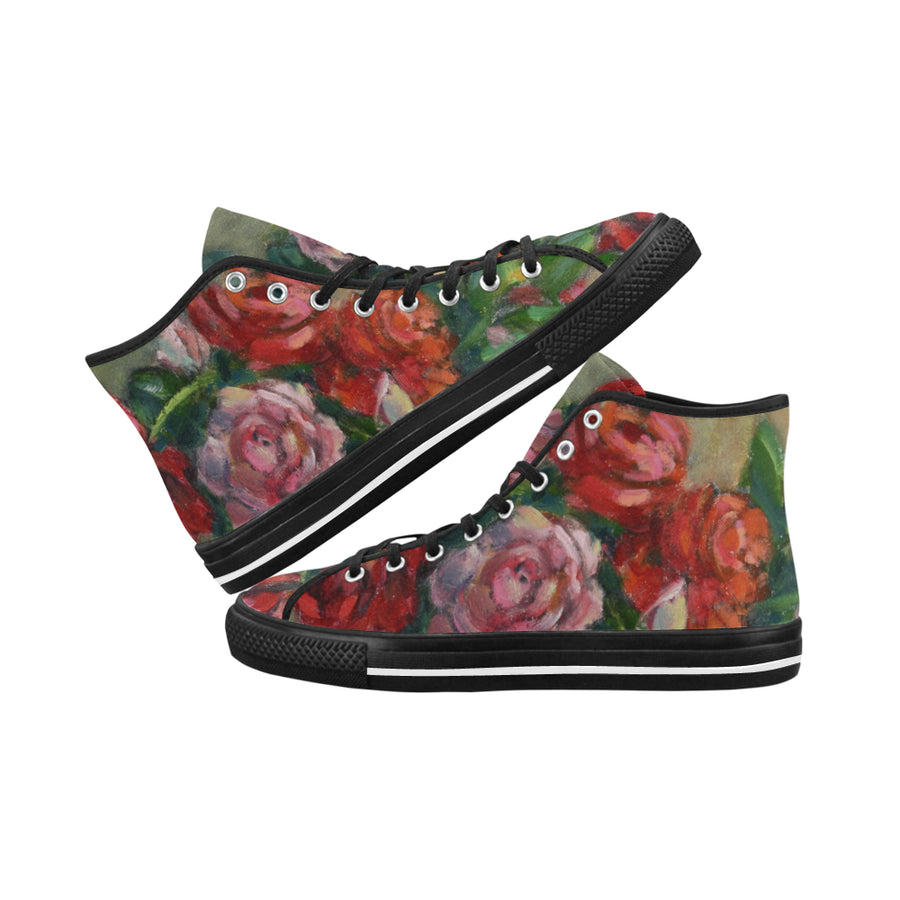 NAOMI'S ROSES High Top Women's Sneakers - Liz Lauter Designs