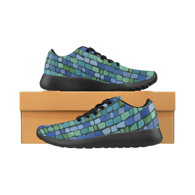 Blue Green Tiles Soft Sneakers - Liz Lauter Designs