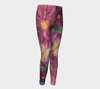 PINK DAHLIAS Youth Leggings - Liz Lauter Designs
