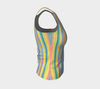 Stripes Fitted Tank Top - Liz Lauter Designs