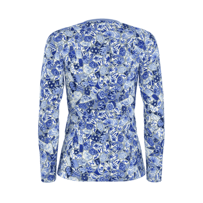 BROKEN TILES MOSAICS LONG SLEEVE SHIRT - Liz Lauter Designs