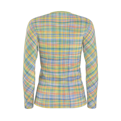 WATERCOLOR PLAID LONG SLEEVE SHIRT - Liz Lauter Designs