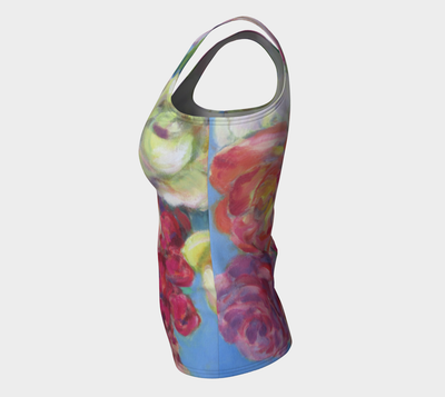 Sky Roses Tank fitted - Liz Lauter Designs