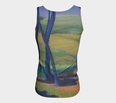 FIELD IN ISRAEL FITTED TANK TOP - Liz Lauter Designs