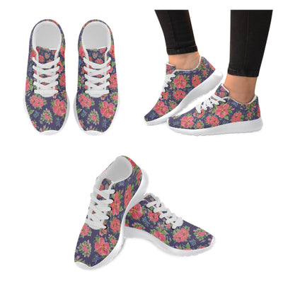 Hibiscus on Navy Sneakers - Liz Lauter Designs