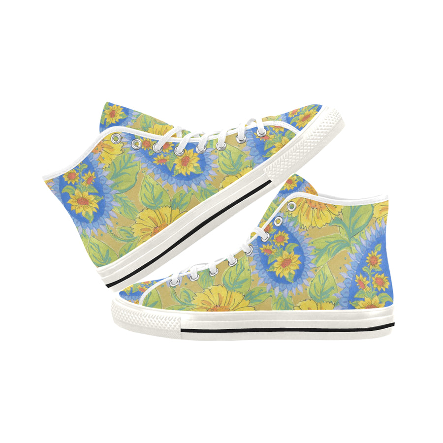 PAISLEY SUNFLOWERS High Top - Liz Lauter Designs