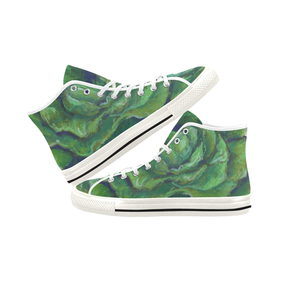 LETTUCE High Top Women's Sneakers - Liz Lauter Designs