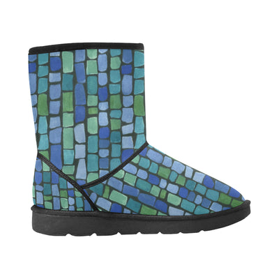 BLUE AND GREEN TILES Snow Boots - Liz Lauter Designs