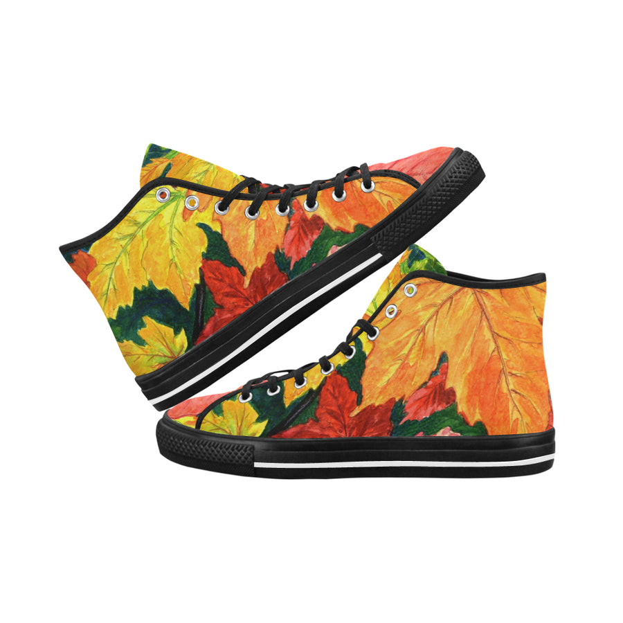 FALL LEAVES High Top Women's Sneakers - Liz Lauter Designs