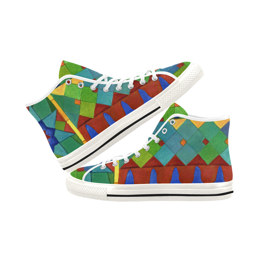 BRIGHT TILES High Top Sneakers - Liz Lauter Designs