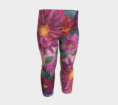 PINK DAHLIAS  Baby Leggings - Liz Lauter Designs