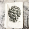 Asparagus and Artichoke Flour Sack Towels - Liz Lauter Designs