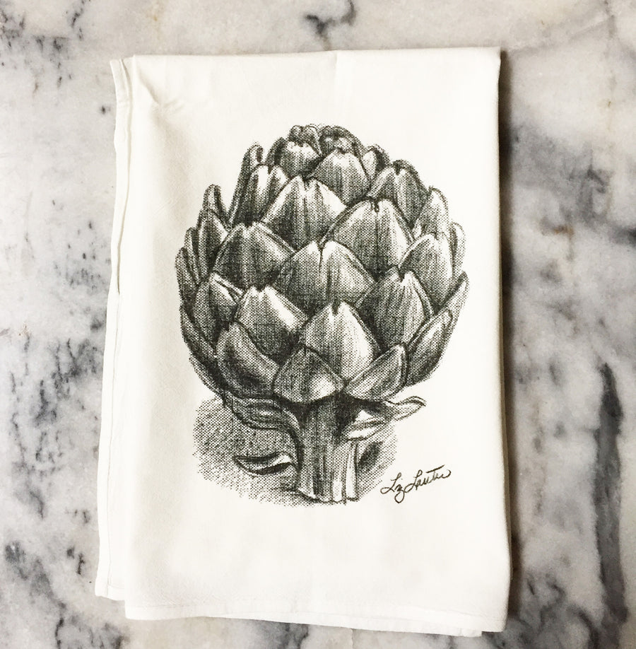 Artichoke Flour Sack Towels set/2 - Liz Lauter Designs
