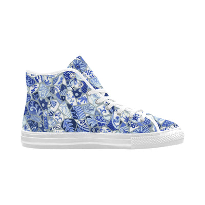 Broken Plates Mosaic Women's HighTop Sneaker - Liz Lauter Designs