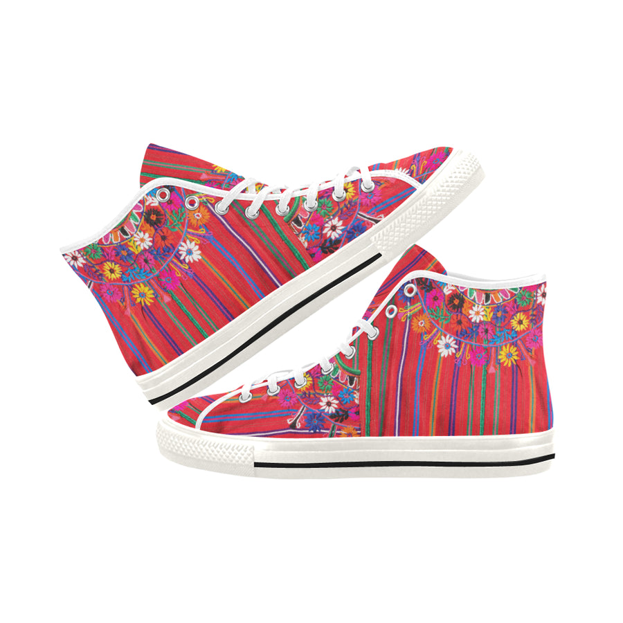 MEXICO EMBROIDERY High Top Sneakers - Liz Lauter Designs
