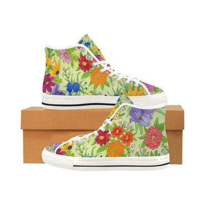 FLORAL GARDEN High Top Women's Sneakers - Liz Lauter Designs