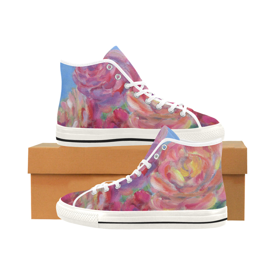 Sky Roses High Top Sneakers - Liz Lauter Designs