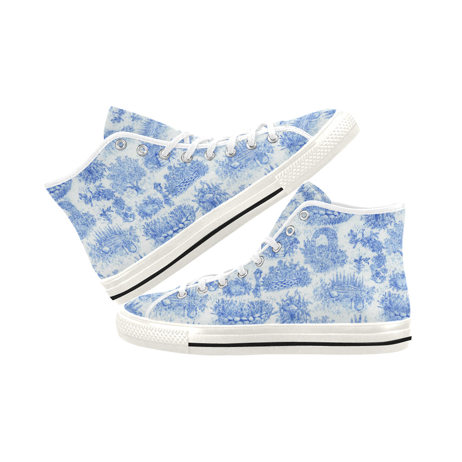 TOILE BLUE High Top Sneakers - Liz Lauter Designs